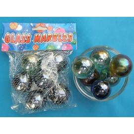 玻璃珠 珠光玻璃珠 功夫球珠 直徑35mm(特大) 6顆入/一包入{促90}