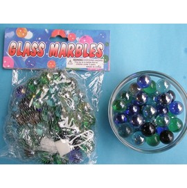 珠光玻璃彈珠/玻璃珠16mm(小)約50顆入/一袋{促40}