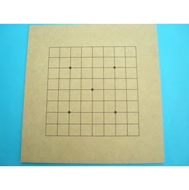 9路~13路學園用圍棋板.小(密集板)正.反兩面/一片入{定50}