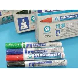 白板筆NO.230雄獅白板筆(黑.紅.藍.綠)/一支入{定25}
