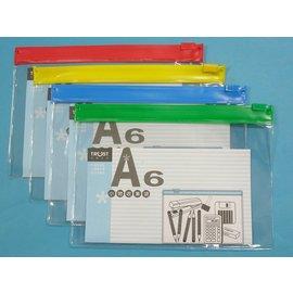 A6透明文件透明袋/信億文件袋拉鏈袋塑膠拉鍊夾鏈夾文件夾MIT製/{定15}一大包12個入