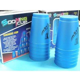 速疊杯 競技疊杯 比賽用智力疊杯樂 飛疊杯 史塔克(藍黑盒)/一盒12個杯入{促150}