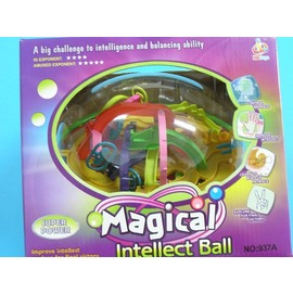 智慧軌道球 937A 極致版智力球 208關迷宮球(第七代橄欖型)/一個入{促299}~CF84500