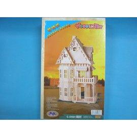 DIY木質拼圖3D立體拼圖 模型屋(G-DH001哥特式房子.大10片入)/一組入{定499}