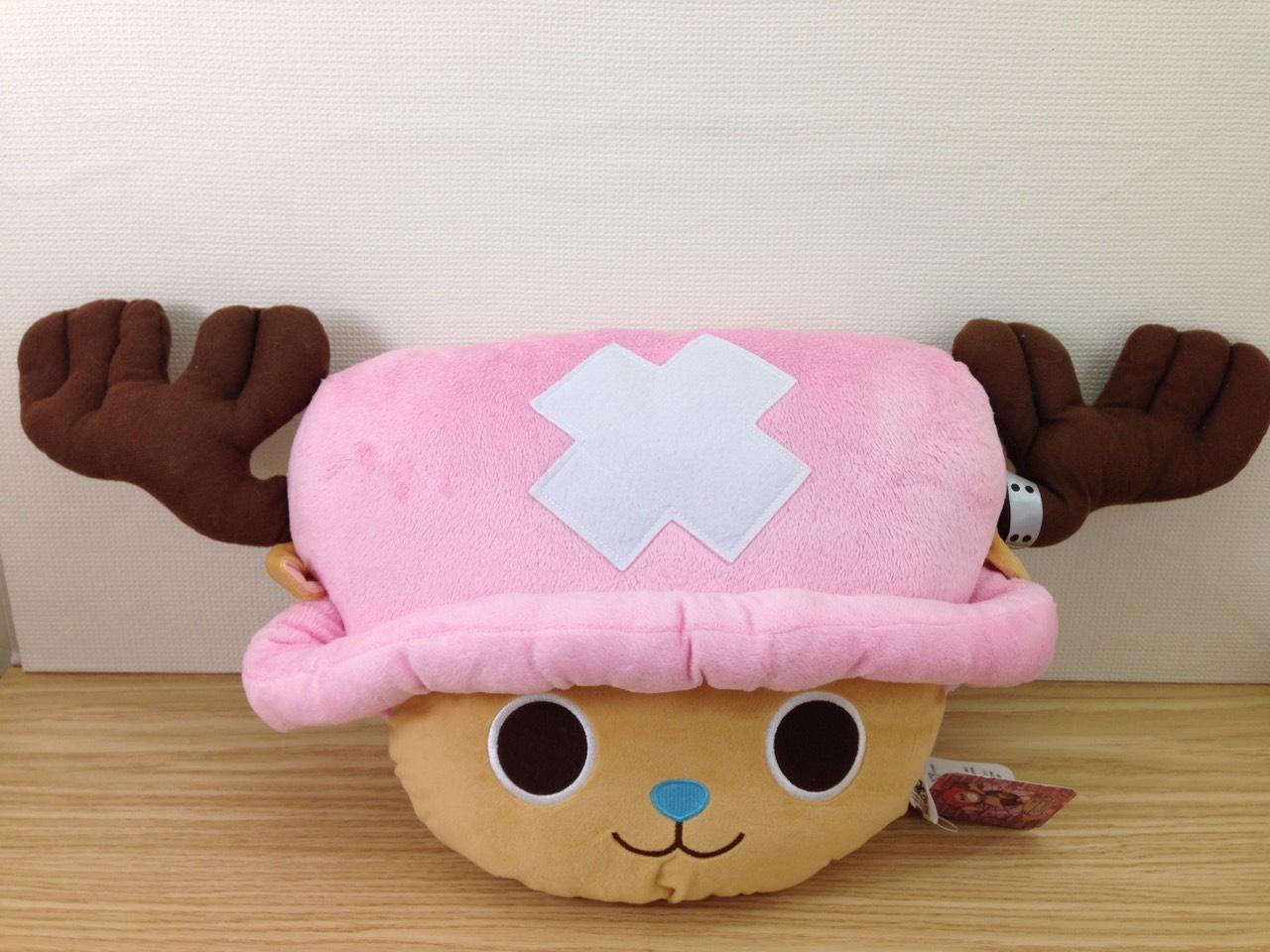 【真愛日本】1510260002714吋頭型抱枕-喬巴  海賊王 航海王 喬巴 魯夫   抱枕  靠枕  頭型