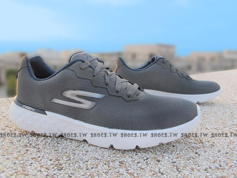 Shoestw【54351CCNV】SKECHERS 慢跑鞋 GO RUN 400 銀灰 慢跑 健走鞋 男生
