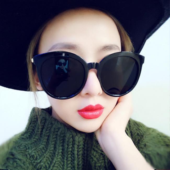 50%OFF【J021177GLS】2017新款復古圓框太陽鏡 韓版時尚太陽眼鏡炫彩反光墨鏡眼鏡
