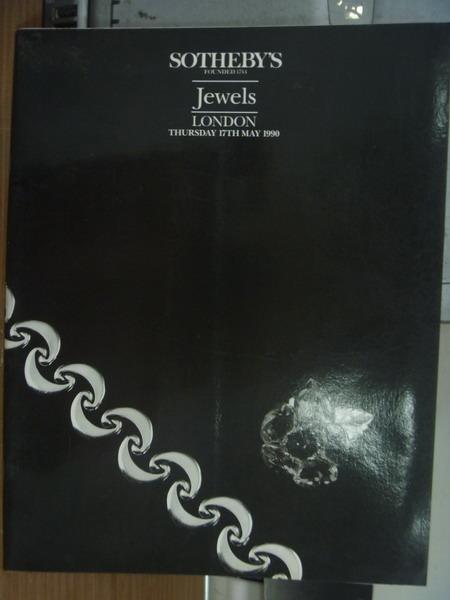 【書寶二手書T2/收藏_PAN】Sotheby's_Jewels london_1990/5/17