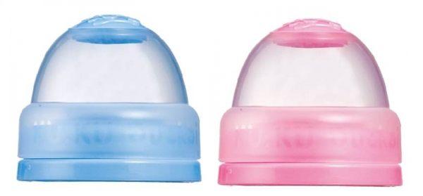 酷咕鴨雙色寬口奶瓶蓋(藍.粉)KU-5381【德芳保健藥妝】顏色隨機出貨