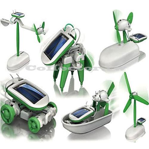 【A16070101】太陽能智慧6合1玩具組 創意太陽能 動力 玩具套裝 腦力開發 大小男孩都想擁有~