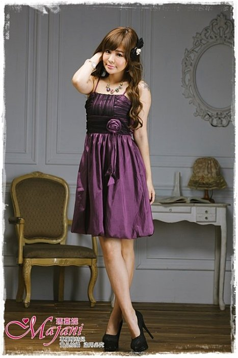 [瑪嘉妮Majani]- 甜美 氣質 大尺碼小禮服 伴娘服 宴會 約會 L~3XL 特價590元免運 ld-031