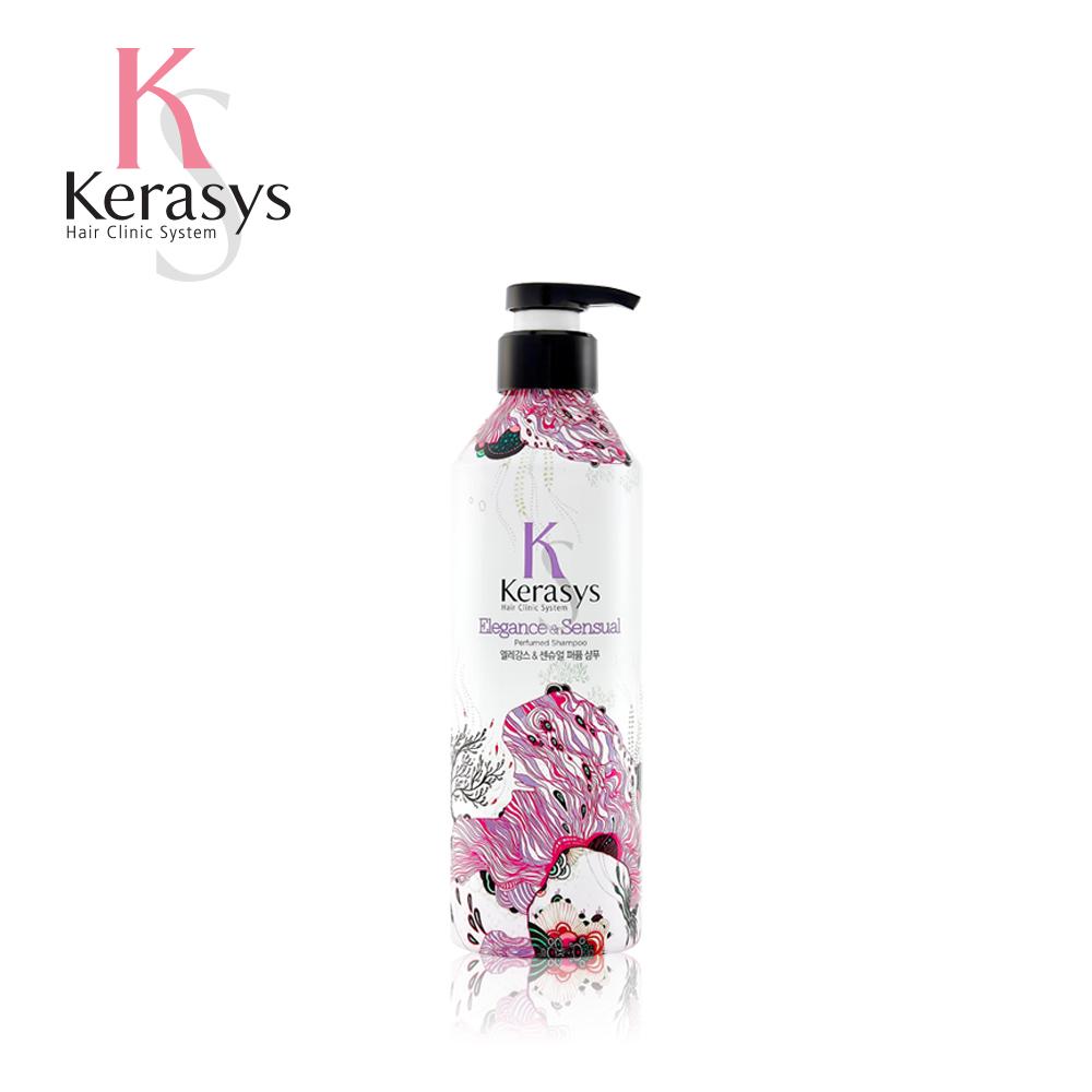 【韓國Kerasys】香氛洗髮精-英倫粉紫 400ml