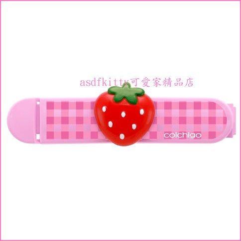 asdfkitty可愛家☆日本SKATER草莓造型封口夾2入組/密封夾(M)-零食袋.麵粉袋.都可夾-日本正版商品