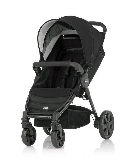 Britax - B-Agile單手收豪華四輪手推車 (黑) 加購Britax - Baby-Safe提籃享特價優惠!
