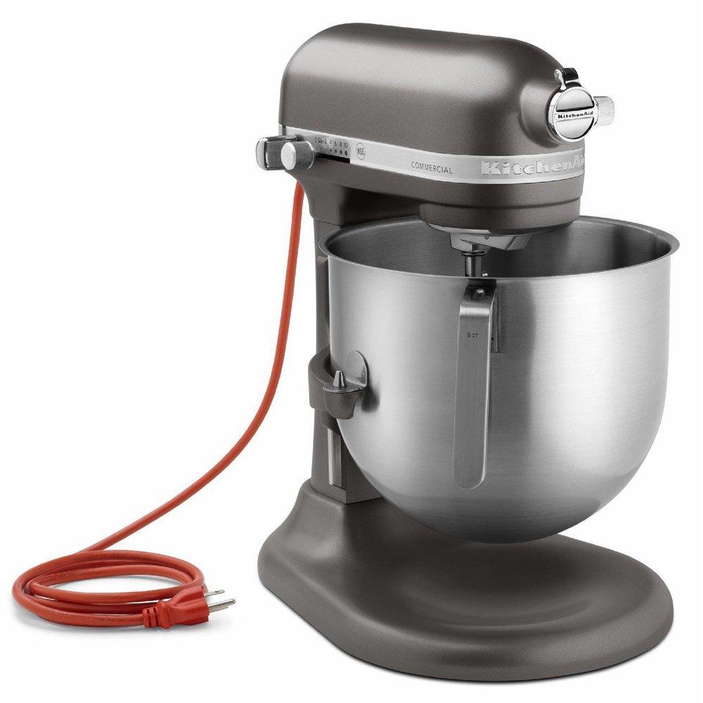 現貨 紅色 鐵灰色 KitchenAid KSM8990OB 8Qt 8 qt Commercial Bowl-Lift Stand Mixer, Onyx Black 7qt可參考升降式攪拌機(黑白紅灰)