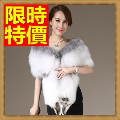 皮草披肩 女圍巾-整皮狐狸毛奢華女斗篷 外套64o43【俄羅斯進口】【米蘭精品】