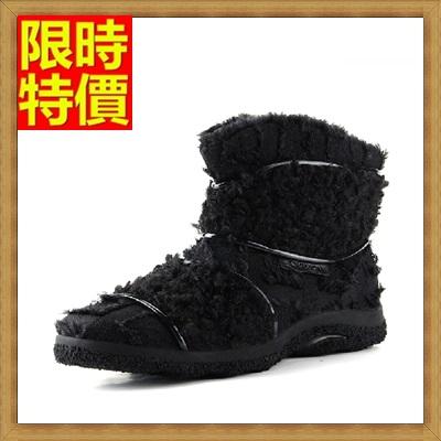 雪靴 男休閒鞋-絨面流蘇厚底羊毛內裡防滑短筒真皮男靴子2色64s14【澳洲進口】【米蘭精品】