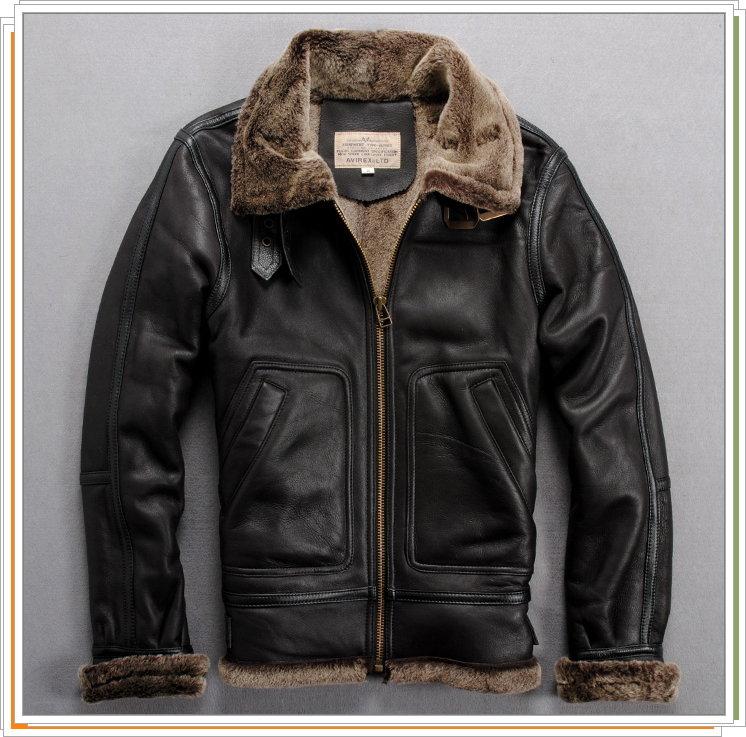 真皮皮衣 飛行夾克-皮毛一體立領修身時尚羊皮男外套9b56【義大利進口】【米蘭精品】