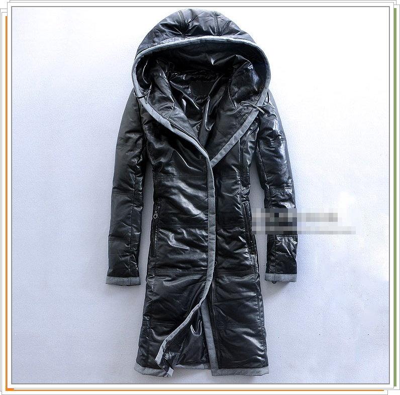 真皮皮衣 羊皮羽絨外套-秋冬保暖防寒防風迷彩連帽女大衣2色9b62【義大利進口】【米蘭精品】