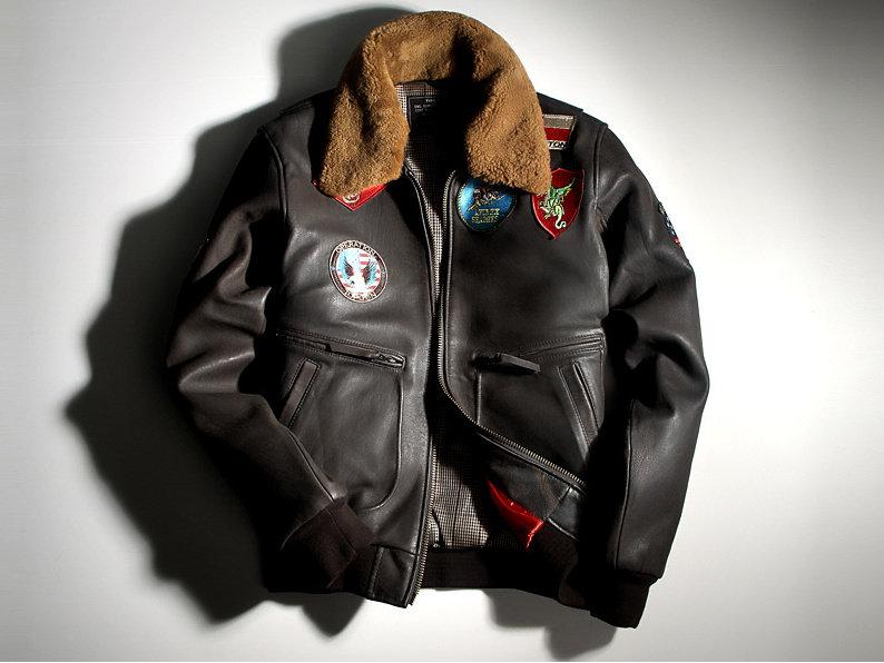 真皮皮衣 飛行夾克-翻領修身時尚做舊男機車外套lm151【義大利進口】【米蘭精品】