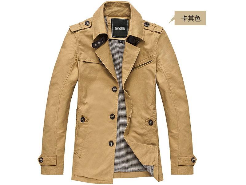 風衣外套 男大衣-秋冬保暖修身短版男外套cm173【韓國進口】【米蘭精品】