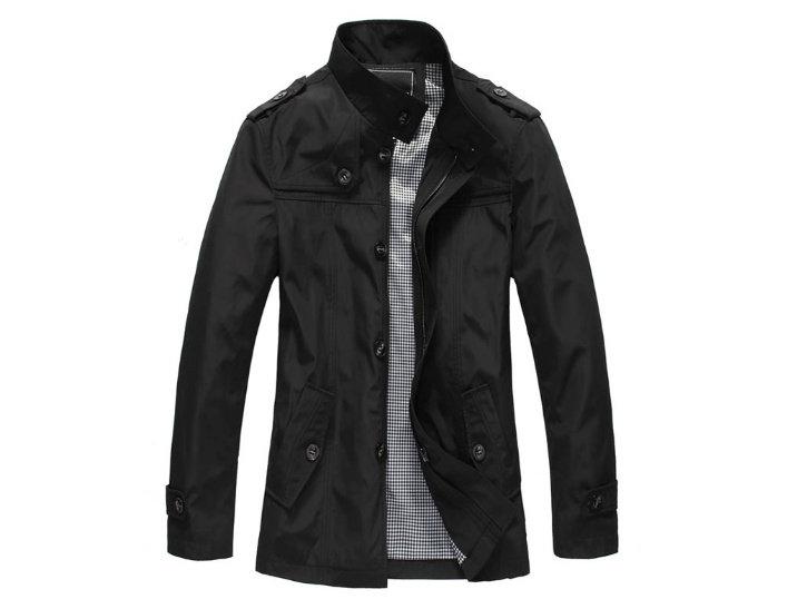 風衣外套 男大衣-秋冬保暖修身短版男外套3色cm167【韓國進口】【米蘭精品】