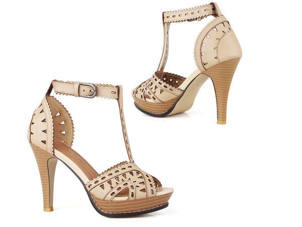 涼鞋 高跟休閒鞋-OL時尚氣質典雅女鞋子2色s180【韓國進口】【米蘭精品】
