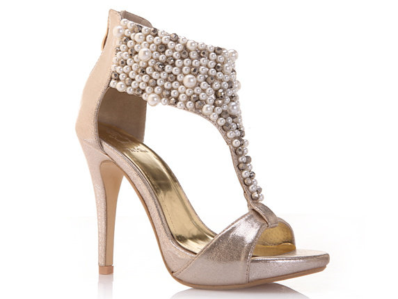 涼鞋 高跟休閒鞋-時尚氣質鑲鑽女鞋子2色s65【韓國進口】【米蘭精品】