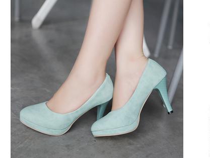 圓頭 高跟鞋 休閒鞋-時尚氣質優雅亮麗女鞋子4色ws66【韓國進口】【米蘭精品】
