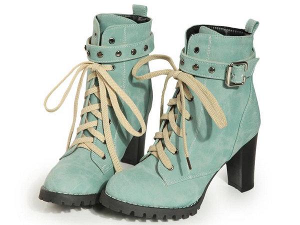 粗跟中筒靴 女鞋子-時尚保暖帥氣休閒女靴子4色ws72【韓國進口】【米蘭精品】