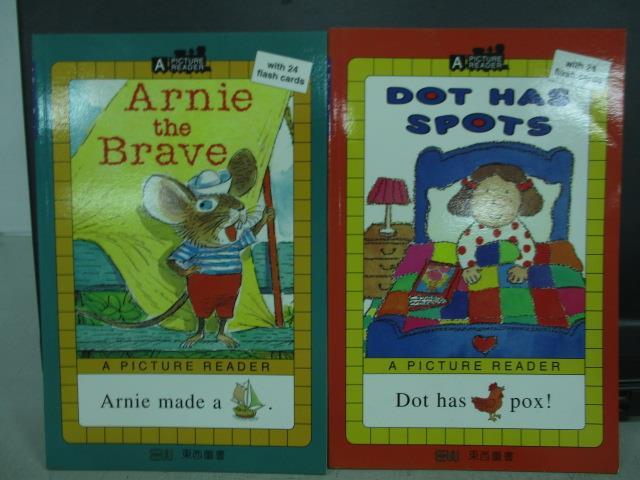 【書寶二手書T4/語言學習_QOD】Arnie the brave_Dot has spots_共_2本合售_無光碟