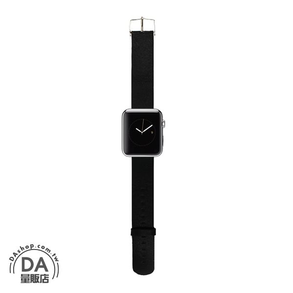 《DA量販店》Apple watch 皮質 錶帶 42mm 黑色 附工具(80-2061)