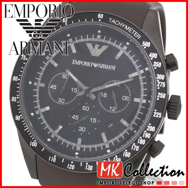 雅痞男子Emporio Armani亞曼尼 矽膠錶帶運動款 計時機能錶 低調黑七天預購+現貨