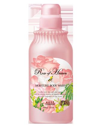 KOSE高絲玫瑰天堂香氛滋潤保濕沐浴乳400ml~泡沫細緻綿密,含玫瑰精油和乳油木果精華