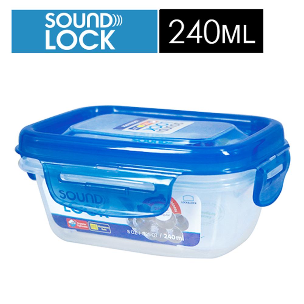 【樂扣樂扣】SOUNDLOCK系列輕巧保鮮盒/長方形240ML
