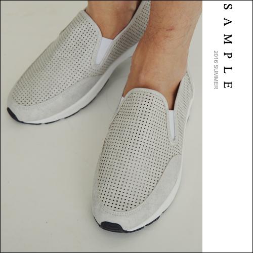 韓國製 懶人鞋 皮革網狀洞洞【LZ16130】- SAMPLE
