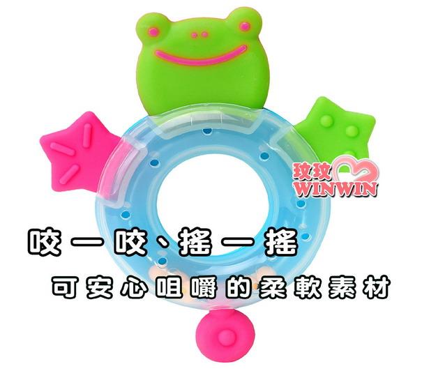 日本-利其爾Richell -495308小青蛙固齒器-耐熱120度-可煮沸消毒-媽媽更安心