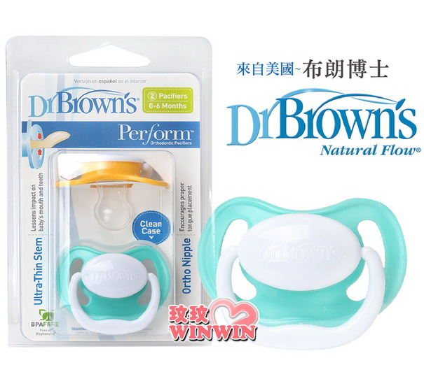 Dr. Brown''s 布朗醫生 安撫奶嘴2入裝 ~ 分出生以上、6-18個月、18個月以上寶寶使用
