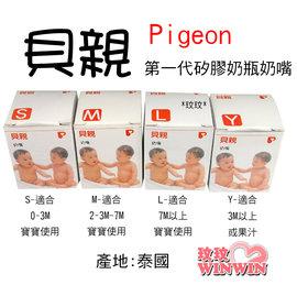 貝親(第一代)奶瓶奶嘴「S-Pd219、M-Pd-220、L-Pd-221、Y-Pd-225」