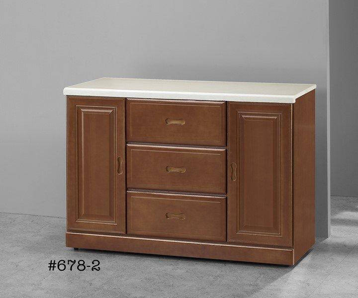 【石川家居】GH-678-2 樟木色4尺石面餐櫃 (不含其他商品) 需搭配車趟
