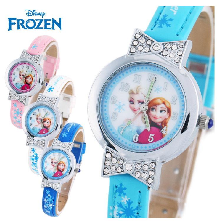 新款2015新品 Disney 迪士尼 frozen冰雪奇緣兒童手錶/石英錶