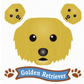 FIELD&POINT 超可愛狗狗車貼(黃金獵犬)