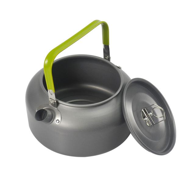 【露營趣】中和 1.2公升 鋁合金茶壺 咖啡壺 燒水壺 露營野營炊具 TNR-134 非犀牛k-33