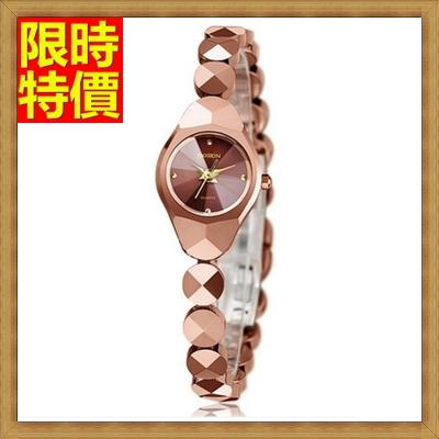 手錶 石英錶(手鍊造型)-鎢鋼潮流時尚女腕錶2色71r38【獨家進口】【米蘭精品】