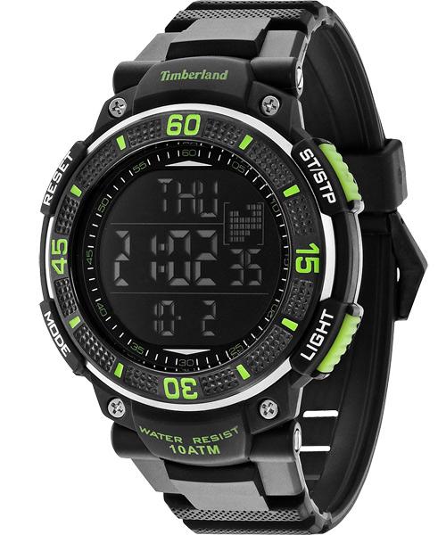 Timberland 天柏嵐 TBL.13554JPB/02B多功能數位腕錶/黑綠50mm