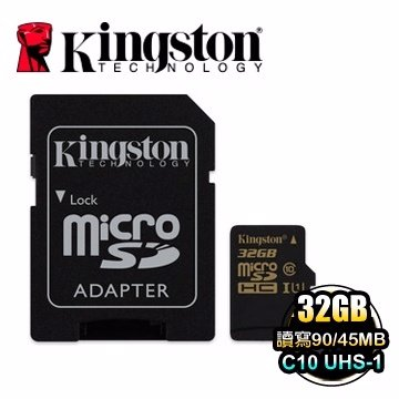 *╯新風尚潮流╭*金士頓記憶卡 32G 32GB micro SDHC C10 UHS-I U1 SDCA10/32GB