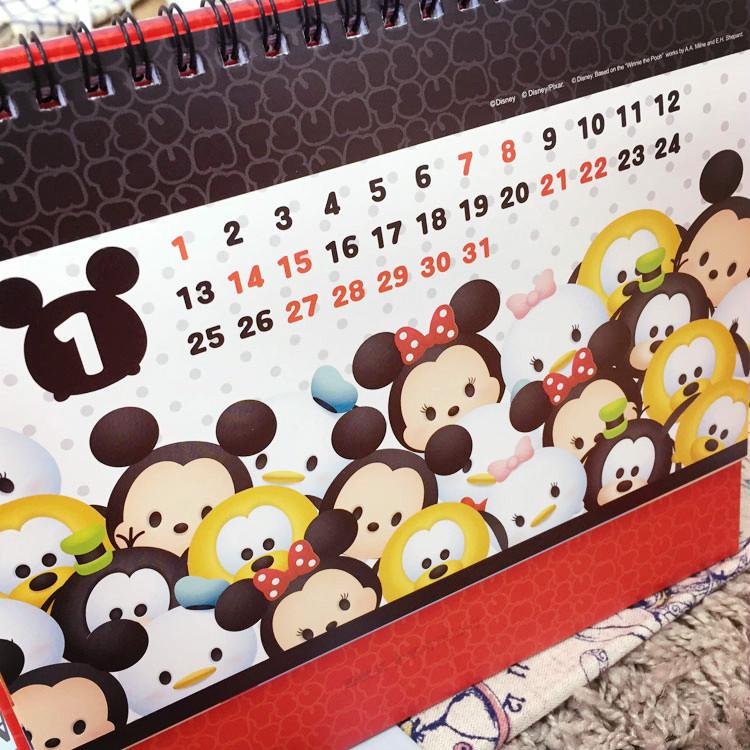 PGS7 (現貨+預購) 迪士尼系列商品 - 迪士尼 TSUM TSUM2017 桌曆 月曆 日曆 行事曆