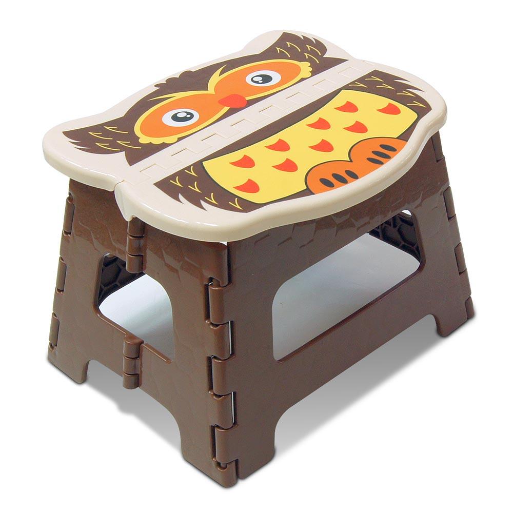 WallyFun 可愛動物摺疊收納椅/小板凳 (貓頭鷹款)
