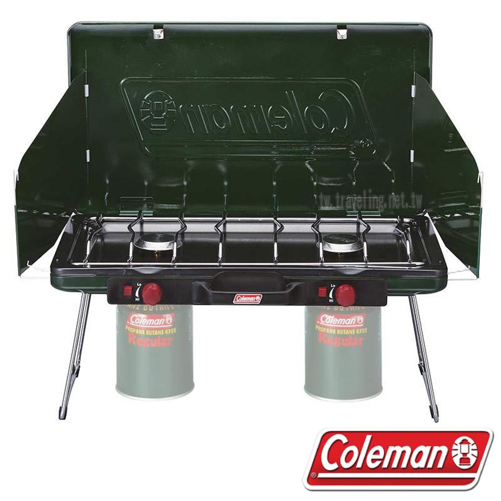 【12月限定】Coleman 瓦斯雙口爐 CM-6707J (送高效能極地瓦斯罐 CK-K450 450g *2罐)