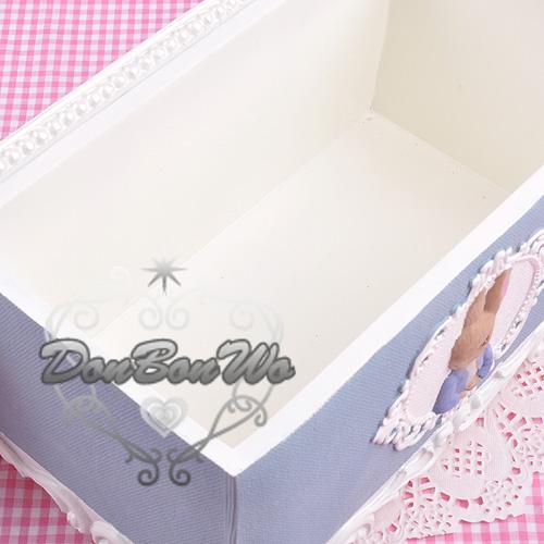彼得兔古典風波麗衛生紙面紙盒藍色兔子100600海度
